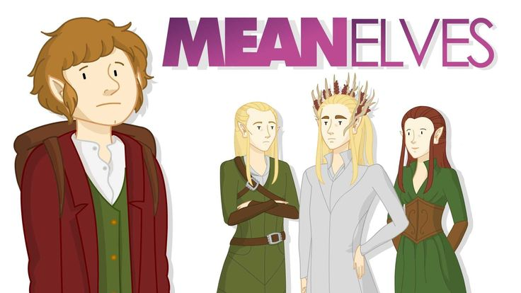 Mean Elves, A Funny Animated Mashup of 'The Hobbit' & 'Mean Girls'. Terrible accents but still funny :)