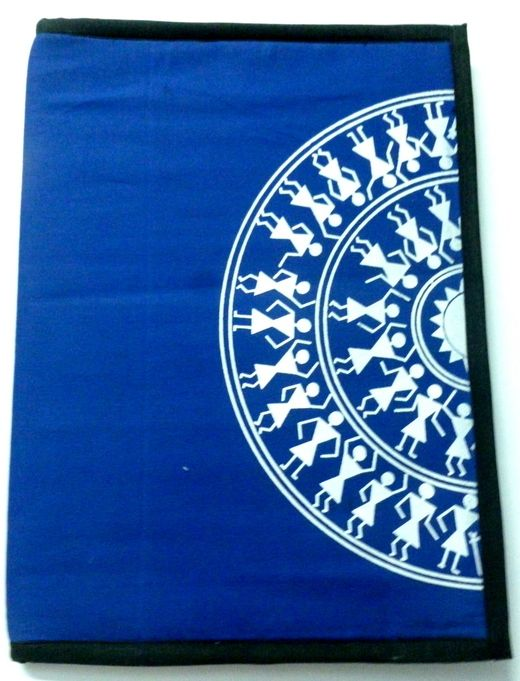 Warli Print Traditional Cloth #FileFolder  #craftshopsindia