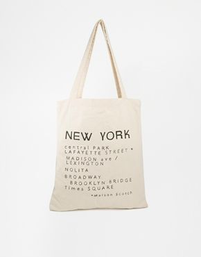 Maison Scotch New York Canvas Shopper Bag