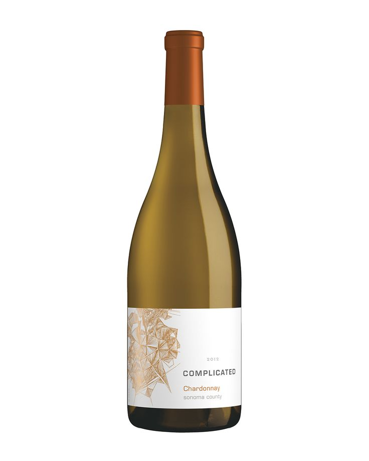 'Complicated' Chardonnay from Taken Wines. Label illustration by Mira Nameth.