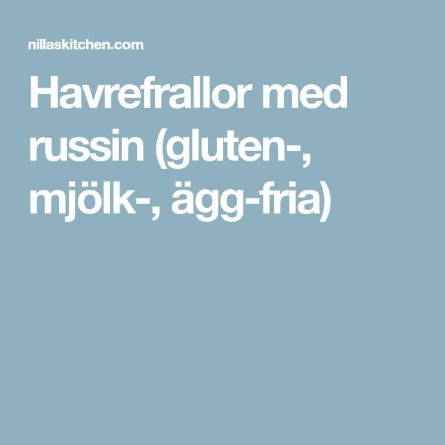 Havrefrallor med russin (gluten-, mjölk-, ägg-fria)
