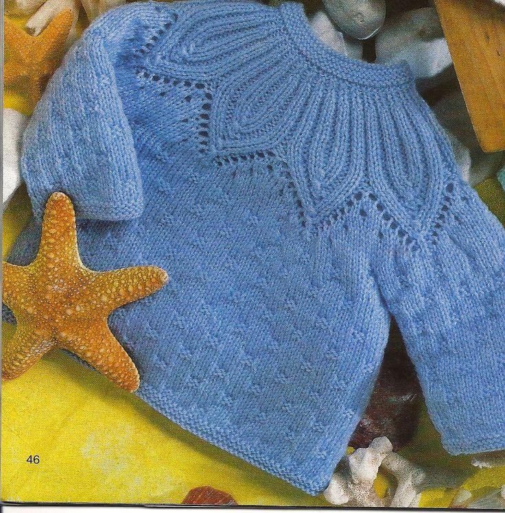 Casaquinho de bebê em tricô - Pala linda | Eu que Fiz - Vovó Baisa