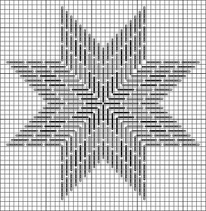 Eight Point Star chart, originally appearing on my blog Nuts about Needlepoint (http://www.nuts-about-needlepoint.com) Image & project copyright Napa Needlepoint.