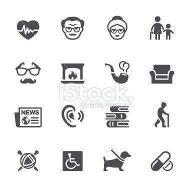Senior adult icons