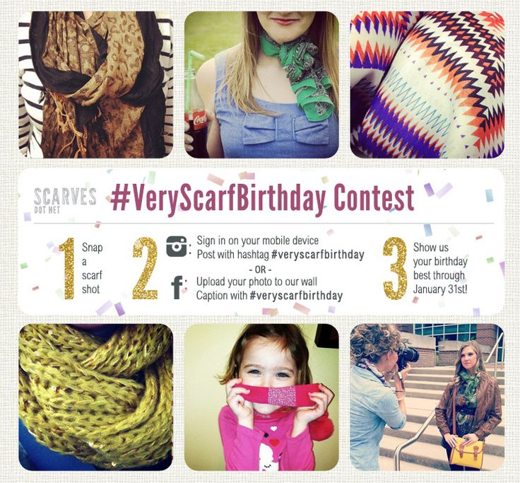 Scarves Dot Net Birthday Instagram Contest #win #contest #free #scarf