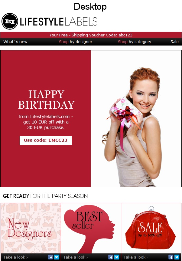 Best Email Inspiration Images On   Email Newsletter