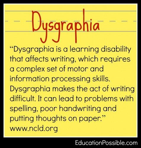 What Is Dysgraphia Learning Disabilities Pinterest