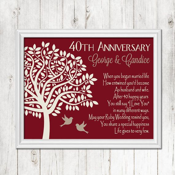 1000 ideas about 40th anniversary gifts on pinterest for Gifts for parents on anniversary