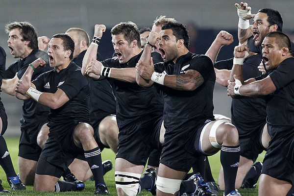 Haka! By the All Blacks Rugby Team,  New Zealand