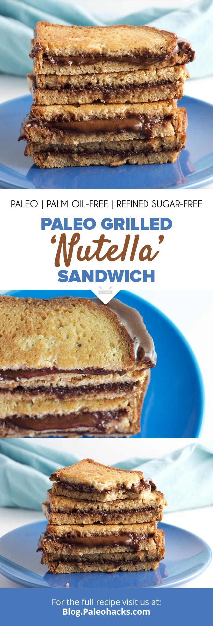 If you need something sweet and gooey, look no further than thisgrilled Nutella sandwich. Get the full recipe here: http://paleo.co/nutellasammie