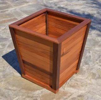 816 best macetas images on pinterest herb garden planter for Tapered planter box plans
