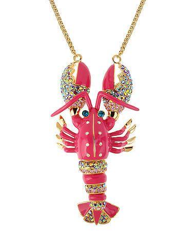 Betsey Johnson Necklace Rock Lobster Pendant   eBay
