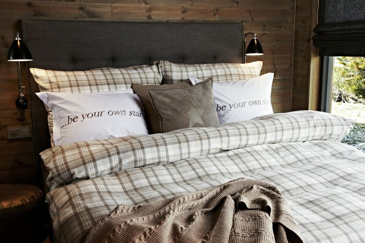 Make your beds like Florence Design, cable pattern banket, check. Bed-Set, Be you own star-pillows and leather star-pillow!