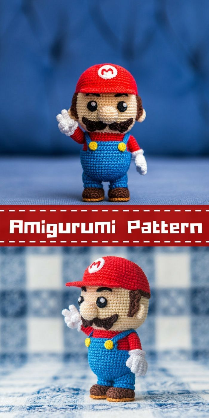 Mario Bross amigurumi tutorial - YouTube | 1400x700