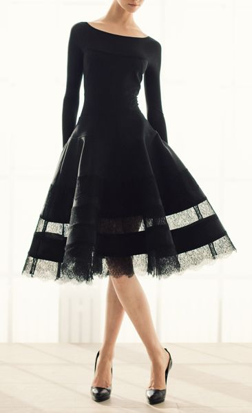 so classy | dress by Donna Karan - now this is what the LBD is all about!