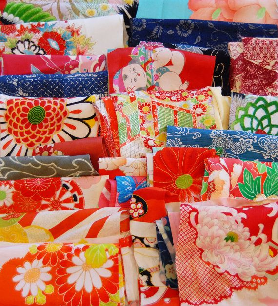 vintage kimono fabric lucky dip pack textile pinterest. Black Bedroom Furniture Sets. Home Design Ideas