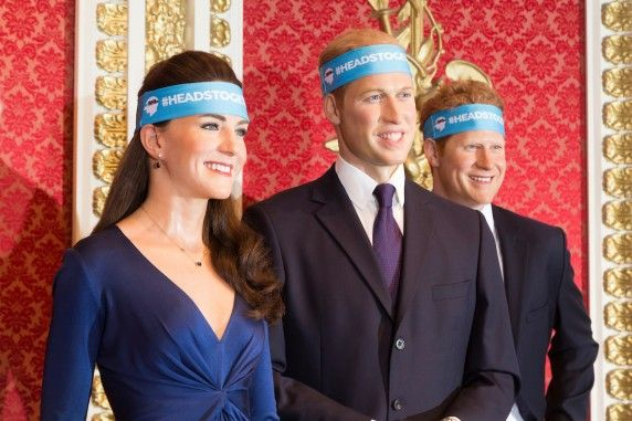 The waxwork likenesses of The Duke and Duchess of Cambridge and Prince Harry, as well as famous athletes such as Usain Bolt, Sir Mo Farah and Dame Jessica Ennis-Hill, got a head-start – wearing the Heads Together headbands in images released today. They will be wearing them again for visitors to the attraction on the day of the marathon, Sunday 23 April. Heads Together – Royal Foundation London Marathon 2017 campaign site