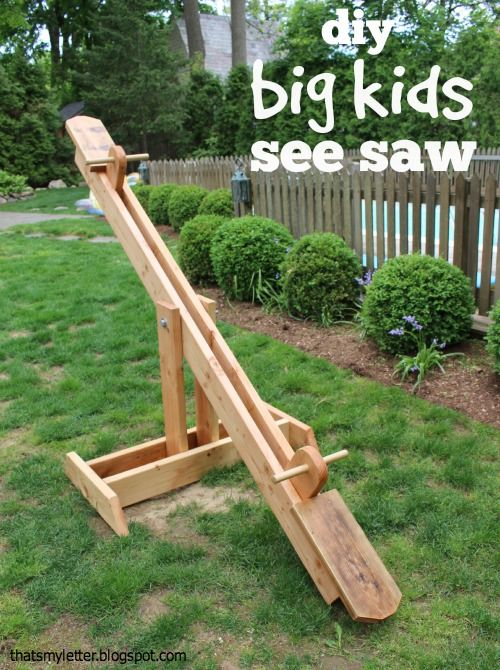 """That's My Letter: """"S"""" is for See Saw, diy big kids seesaw"""