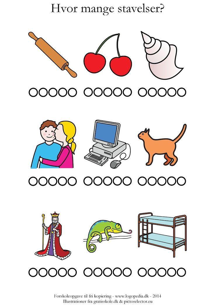 Førskoleopgaver | sprogkiosken