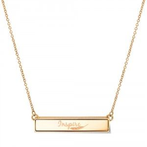 NECKLACE + BAR INSPIRE GOLD TONED   TAKE WHAT YOU NEED by Mi Moneda