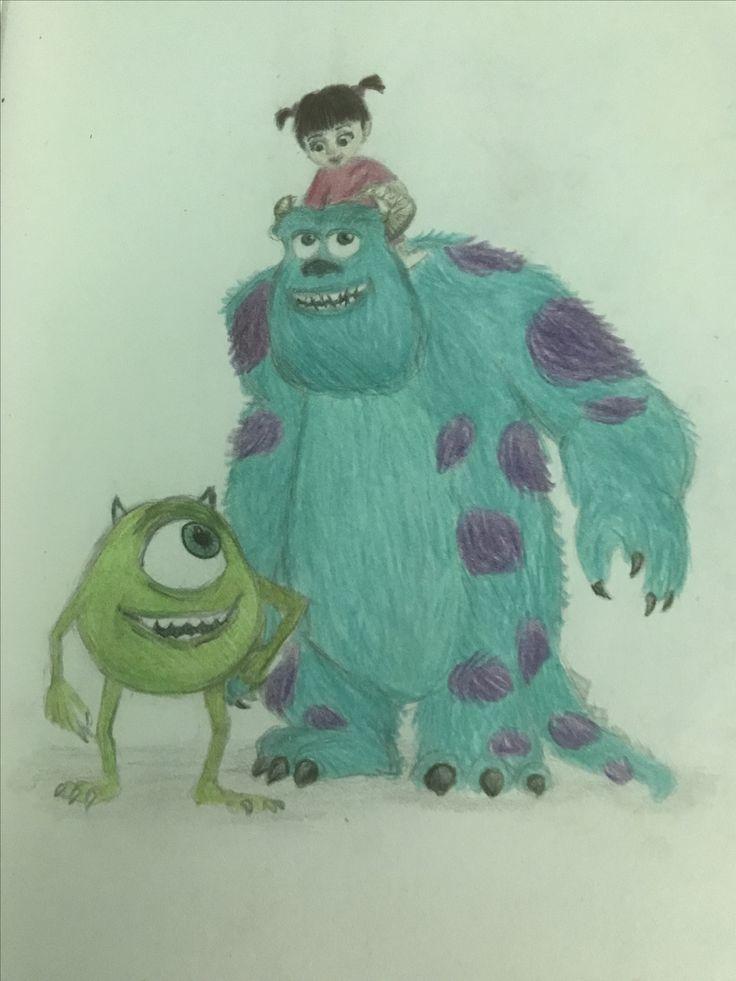 Monsters inc Disney drawing