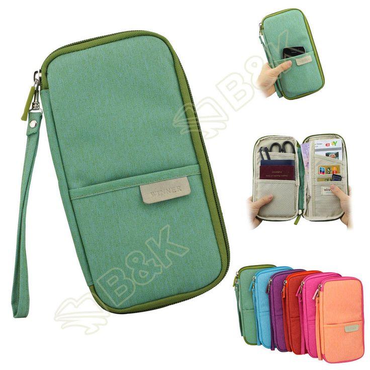 Travel Organizer Bag Money Passport Card Document Holder Cover Wallet Handbag
