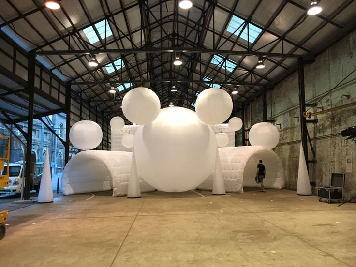 Some of our inflatable products used at a fashion show by the professional team at Bedouin Tents Sydney.
