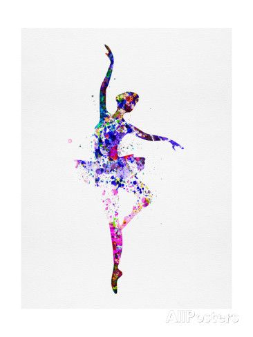 Ballerina Dancing Watercolor 2 Prints by Irina March at AllPosters.com