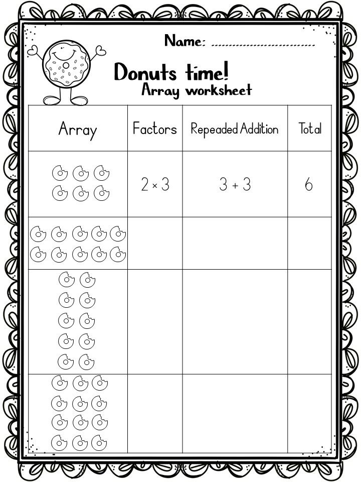 Arrays Worksheets And Games Array Worksheets Array Math Math Worksheets