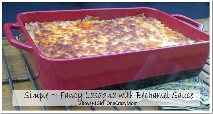 Create a Simple ~ Fancy Lasagna with a Béchamel Sauce that will be a crowd pleaser in your @Bobby Flay Lasagna Pan #Recipe @Kohl's