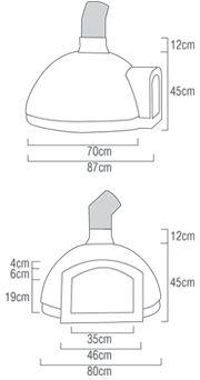 medida de um forno de pizza - Pesquisa Google