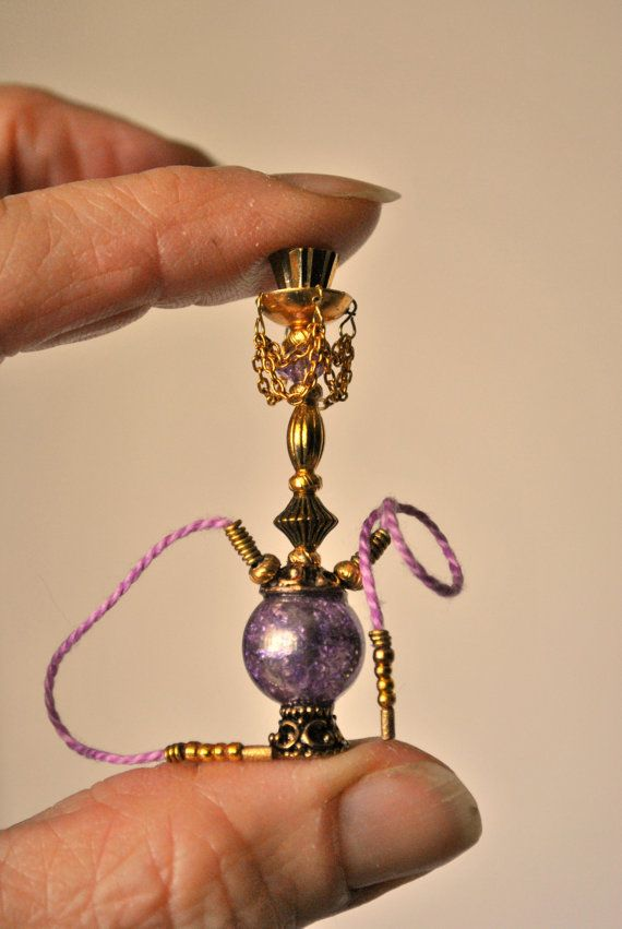 Dollhouse Miniature Hippie Hookah Lavender by Purpose4Everything