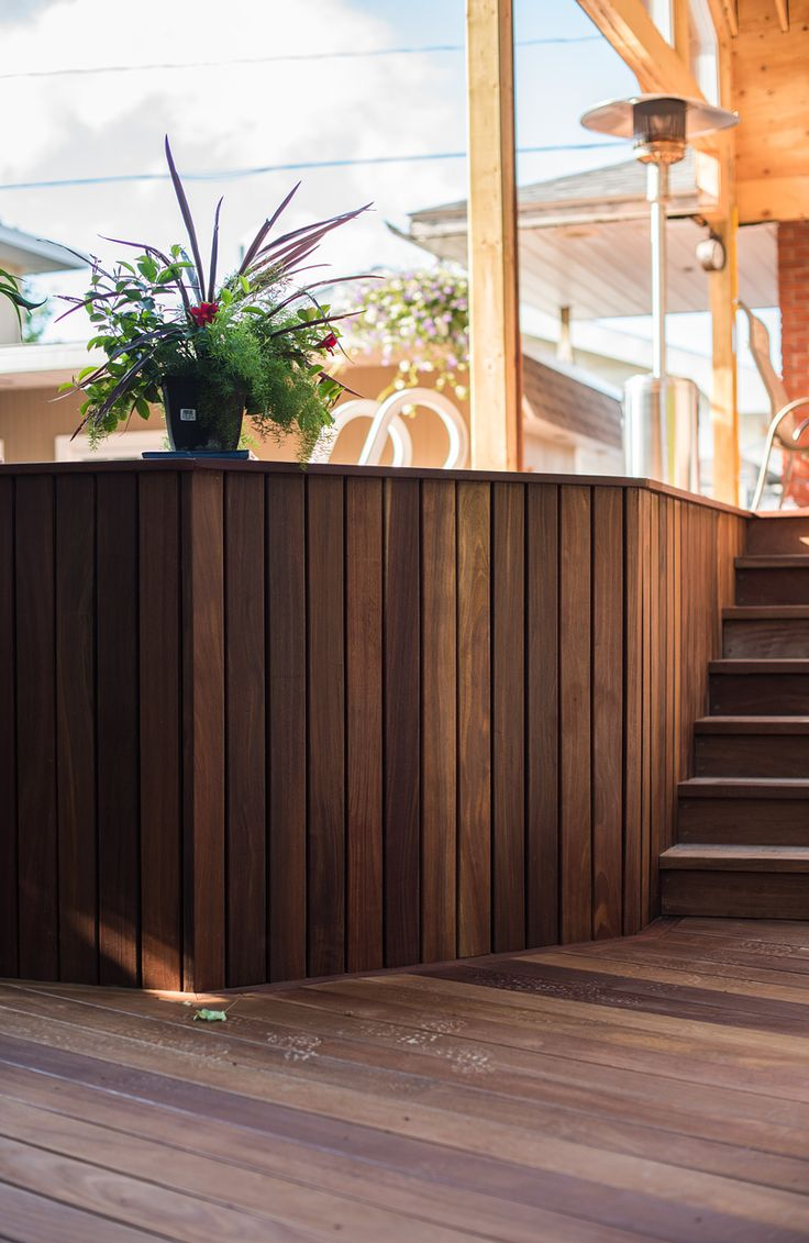 Deck Decorating Ideas, Cumaru is comparable to IPE and TEAK can last uo to 50 years. www.decktogo.com