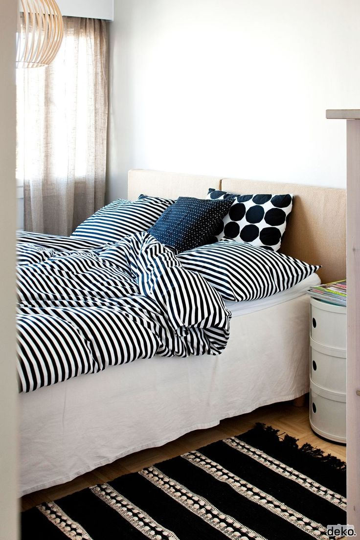 Marimekko bed linen and Octo pendant light.