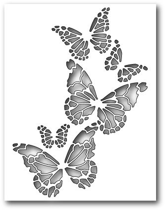 Memory Box Reverse Butterfly Collage Die