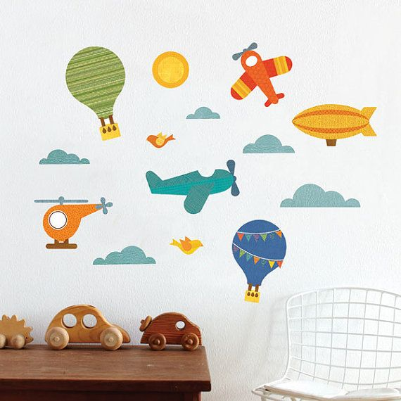 Air Transportation Fabric Wall Decal by petitcollage on Etsy, $60.00