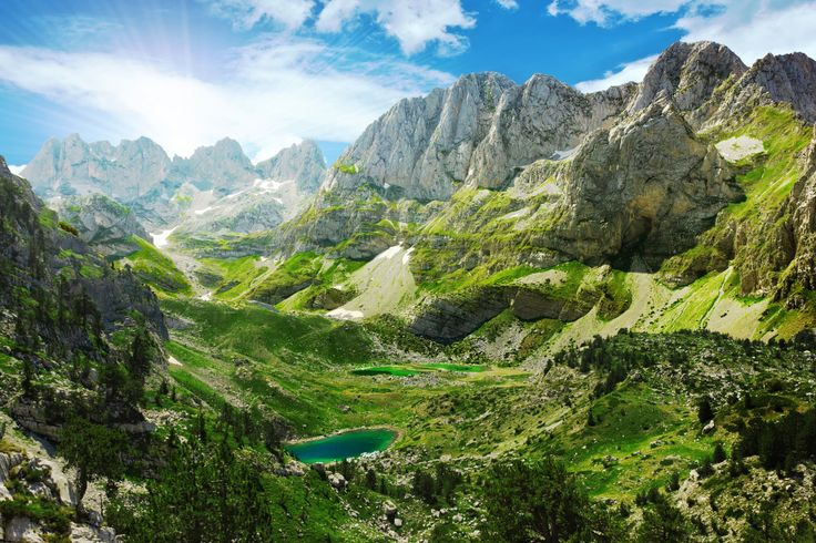 Mountain Lakes in Albanian Alps jigsaw puzzle in Great Sightings puzzles on TheJigsawPuzzles.com