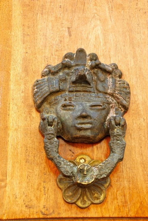 Beautiful Mexican antique door knocker in San Miguel de Allende, Guanajuato