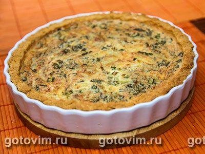 Сырный пирог с зеленью. Фотография рецепта