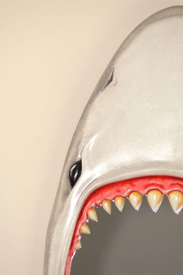 FunkyMirrors Jaws Shark - Great White Bathroom Mirror :) .. /\......