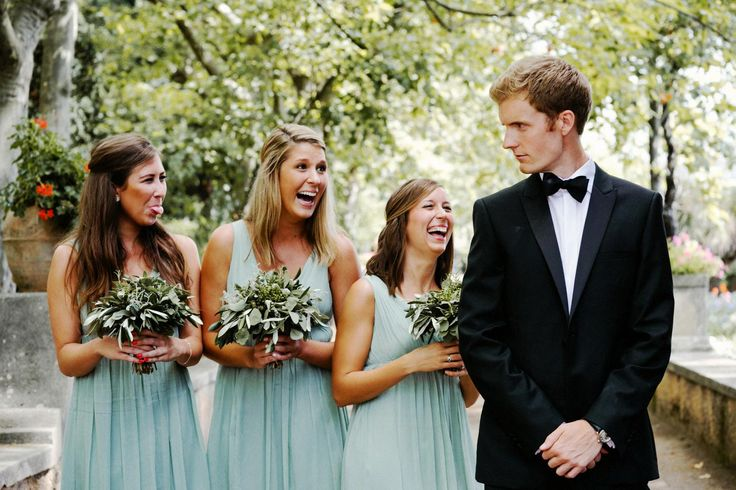 why laughing?, bridesmades, groom,Jeff & Suzanne - 24th May 2014 - Ravello - Amalfi Coast - La Dolce Vita