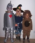 Kids Wizard of Oz Costumes: Tin Man, Scarecrow and Cowardly Lion - 2013 Halloween Costume Contest