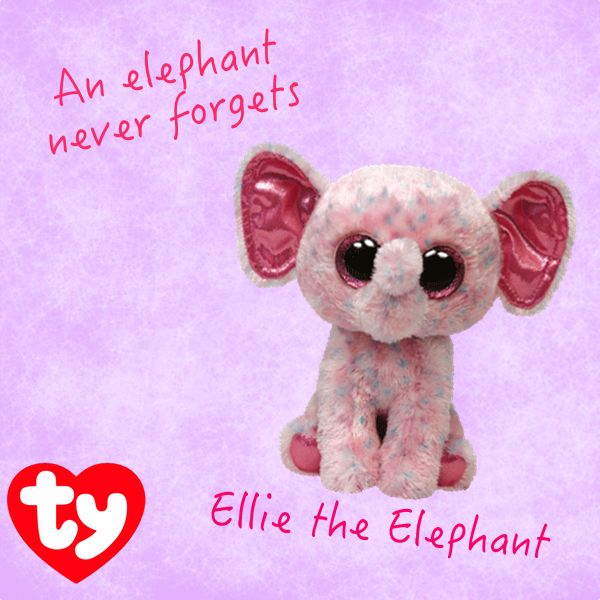 Ellie The Elephant Beanie Boo Beanie Boos Pinterest