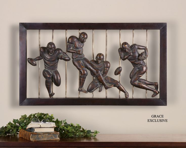 Vintage Football Wall Art Decorating Ideas Pinterest
