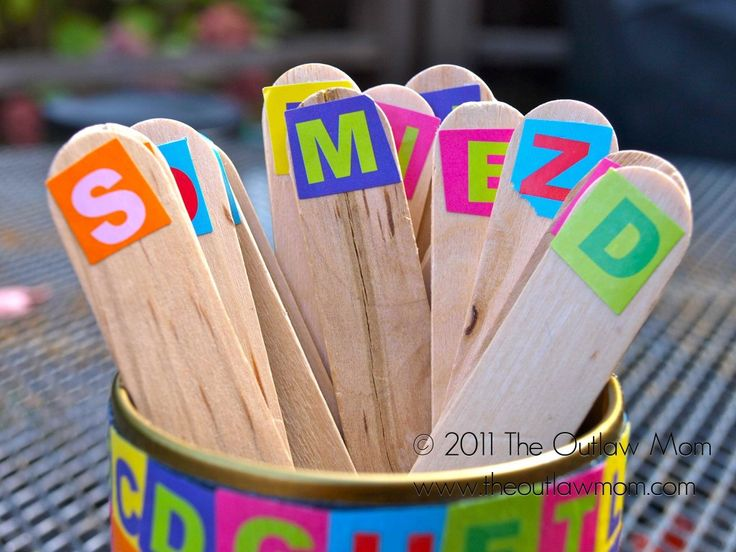 This is a great idea for learning letters and making words!