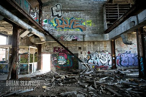 Photo by brian slawson photography abandoned building milwaukee wi smurf graffiti tags - The beauty of an abandoned house the art behind the crisis ...