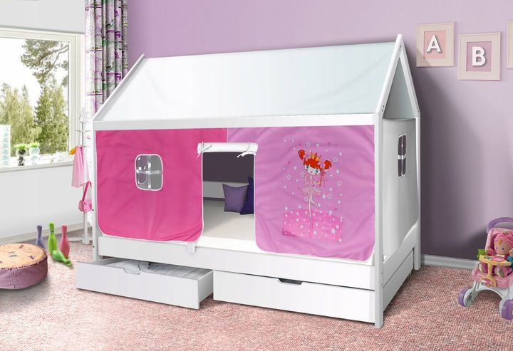łóżko Dziecięce Drewniane Domek 7619977346 Allegropl