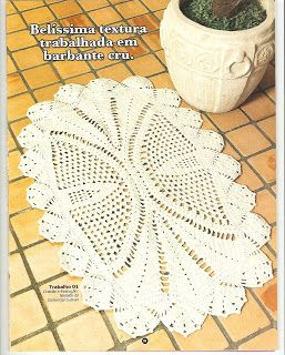 crochet doily + diagram pattern