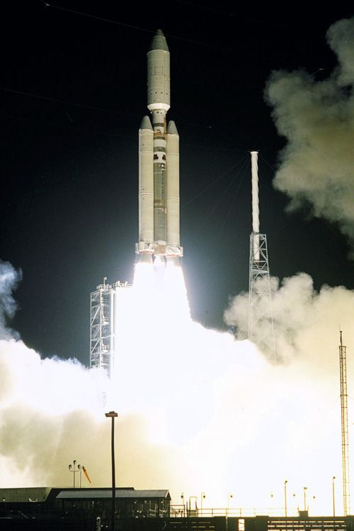 (October 15 1997) A seven-year journey to the ringed planet Saturn begins with the liftoff of a Titan IVB/Centaur carrying the Cassini orbiter and its attached Huygens probe. Launch occurred at 4:43 a.m. EDT October 15 1997 from Launch Complex 40 on Cape Canaveral Air Station. After a 2.2-billion mile journey that will include two swing-bys of Venus and one of Earth to gain additional velocity the two-storey tall spacecraft will arrive at Saturn in July 2004. The orbiter will circle the…