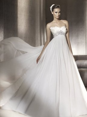 Wedding Dress - feathers